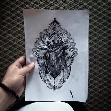 geometric realism tattoo heart geometric tattoo realistic realistic tattoo