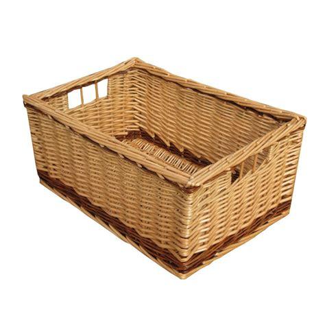 Buy melbury rectangular wicker storage basket from the