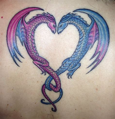 dragon heart tattoo designs ideas