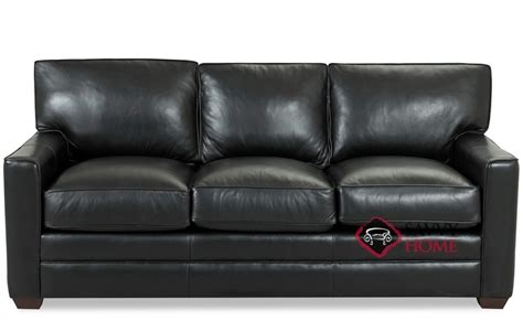 palo alto leather sofa by savvy is fully customizable by