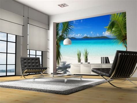 living room wall murals 16 wall murals that bring a new dimension to your living