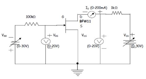 fet transistor characteristic electronic devices and circuits lab notes fet
