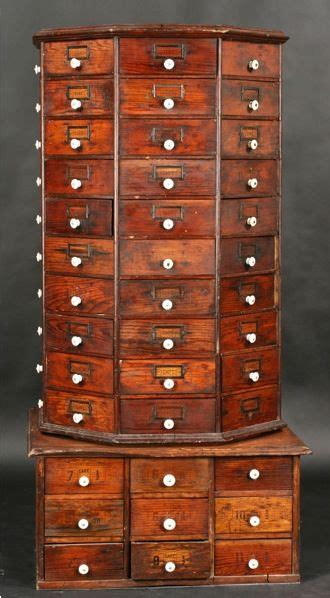 cabinet with lots of drawers antique octangular revolving multi drawer hardware cabinet