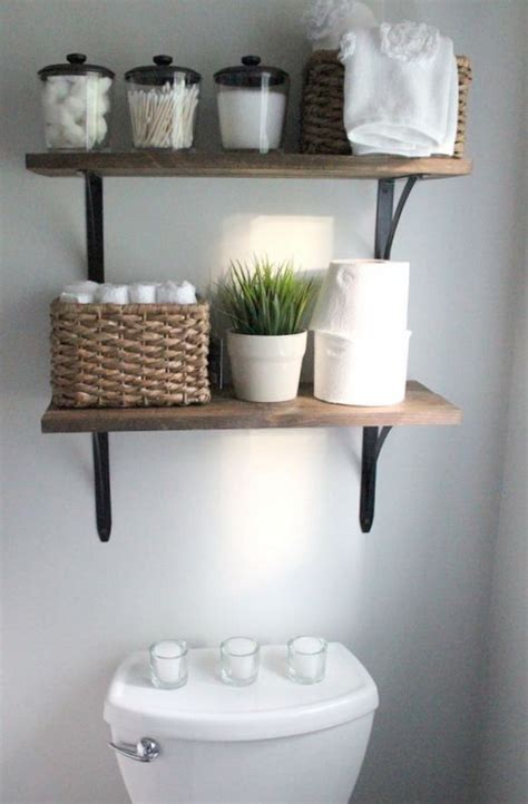 Awesome Over The Toilet Storage Organization Ideas Bathroom Shelves Decorating Ideas
