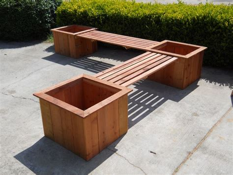 flower box bench bench with planter boxes gardens and such pinterest