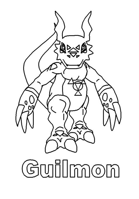 coloring page digimon coloring pages 39
