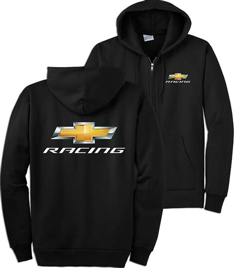 chevrolet hoodie chevrolet racing black zip up hoodie chevymall