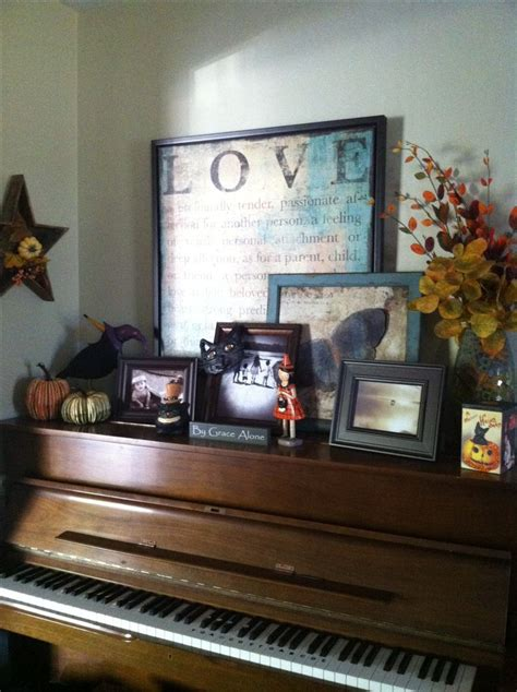pin by terrie krupitzer on decorating the top of kitchen cabinets p fall piano top decor piano top decor pinterest