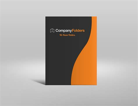 free psd serpentine business folder mockup template on