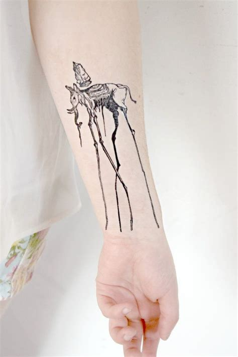 salvador dali tattoo temporary salvador dali artist elephant