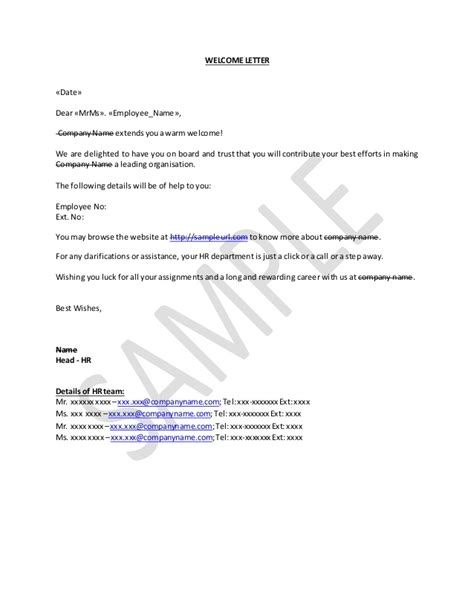 appointment letter new joinee how to write welcome letter for new joinee in company