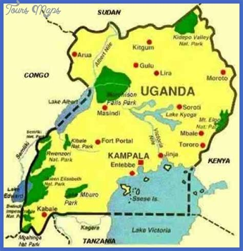 where is uganda on the world map uganda map tourist attractions toursmaps