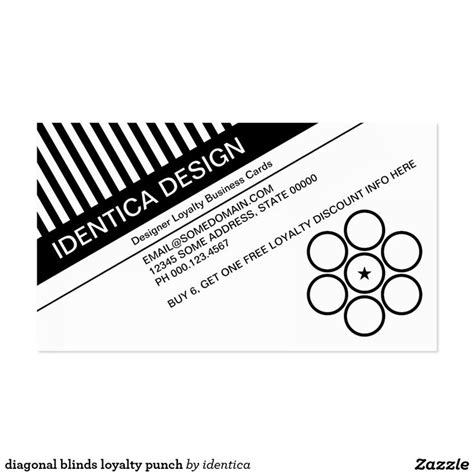 blank punch card template diagonal blinds loyalty punch business card punch