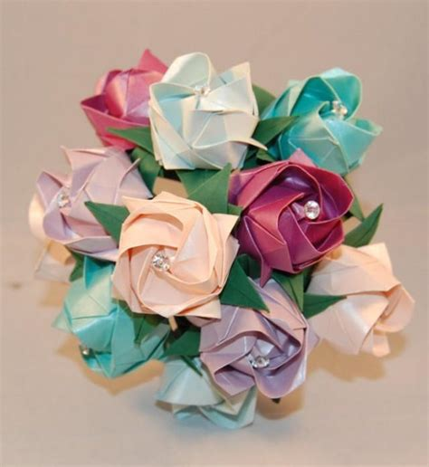 Origami Flowers For Wedding - alternative wedding roses valentines origami roses paper