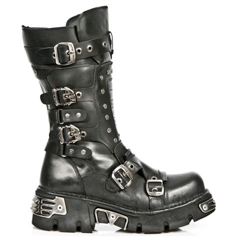 rocker boots for all black leather classic new rock boots