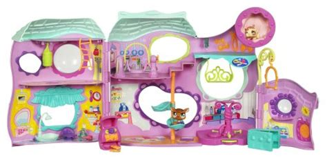 lps houses walmart littlest pet shop tail waggin fitness club playset hasbro