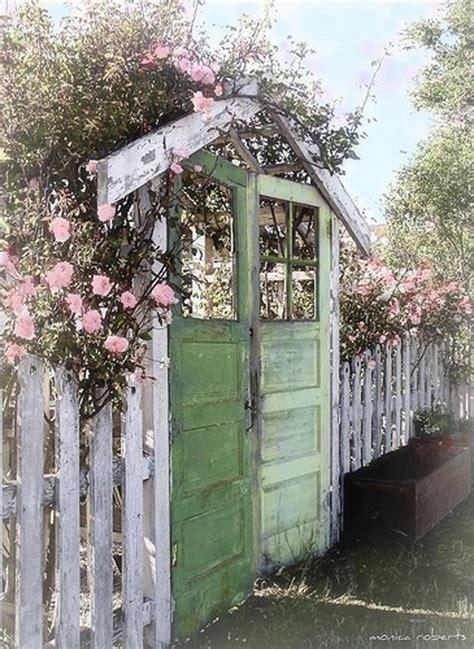 backyard fence door diy up cycled garden gates the garden glove