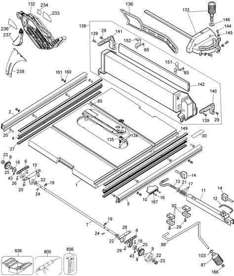 dewalt table saw parts dewalt dw744 portable table saw parts type 6 parts