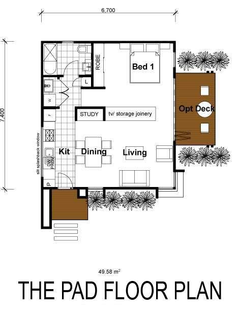 540 sq ft floor plan the pad 540 sq ft small space floor plans pinterest