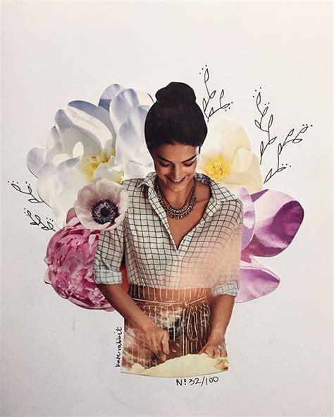 Tas Rabbit Flower anthropologie flower collage by kate rabbit no 32 100