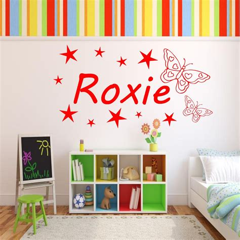 girls bedroom transfers personalised girls name butterfly bedroom wall art