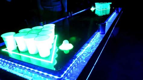 infinity glow led pong table lights up to