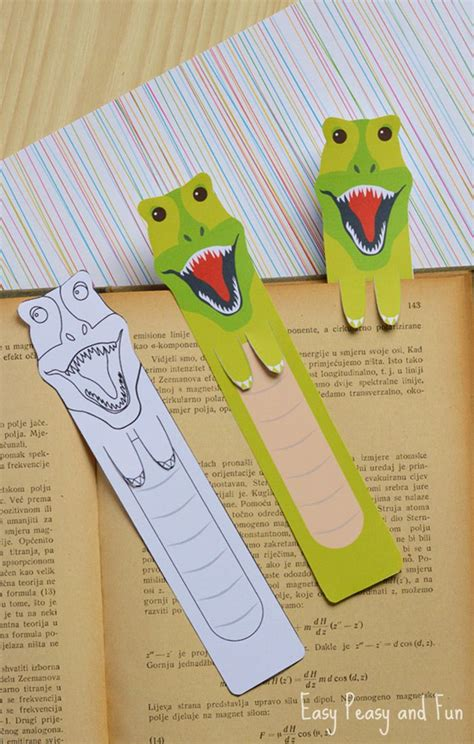 printable preschool bookmarks printable dinosaur bookmarks bookmarks craft and activities