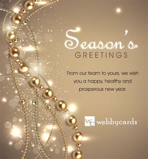elegant beads light bg  animated holiday corporate ecard mobile friendly electronic