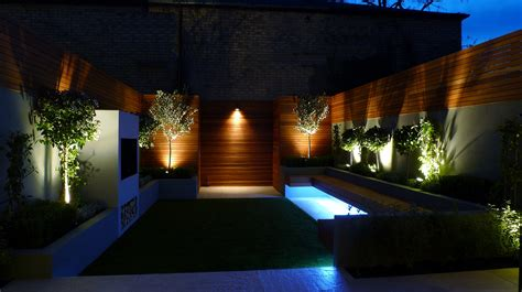 home lighting design london night garden plants and lighting garden design