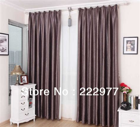 Purple Grey Curtains Free Shipping 100 Polyester Pleated Curtain Grey Purple Ready Made Curtain Living Room