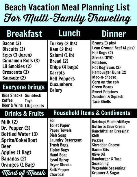 Cabin Cing Checklist cing trip food list 28 images 17 beste idee 235 n