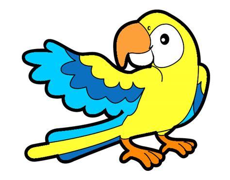 imagenes infantiles net dibujo de loro con ala abierte pintado por jesuri en