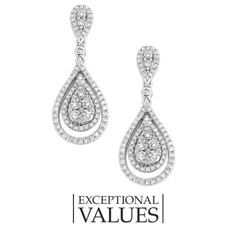 fred meyer jewelers 1 ct tw pear shaped drop