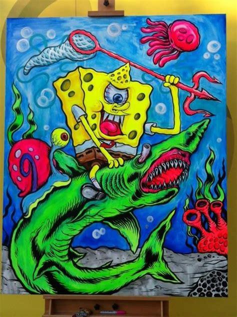 spongebob painting l amour supreme spongebob squarepants painting cus