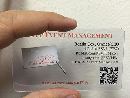 Event Planner Mba Nyu by Plastic Business Card Design Gallery