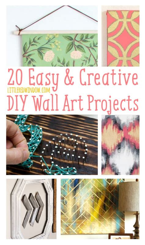 15 easy diy wall art ideas you ll fall in love with 20 easy creative diy wall art projects little red window