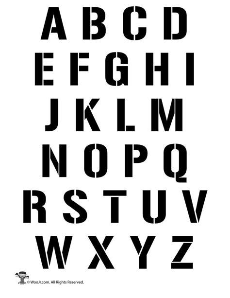 uppercase alphabet stencil letter set crafts alphabet