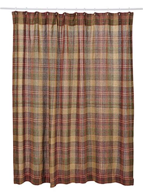 Simple Shower Curtains Buy Simple Kendrick Burlap Plaid Shower Curtain By Vhc Brands
