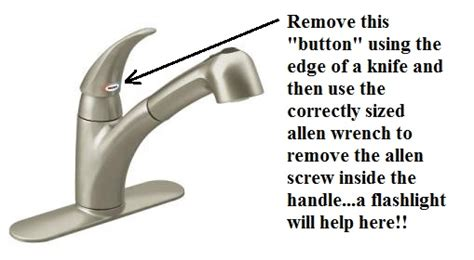 how to remove handle on moen kitchen faucet