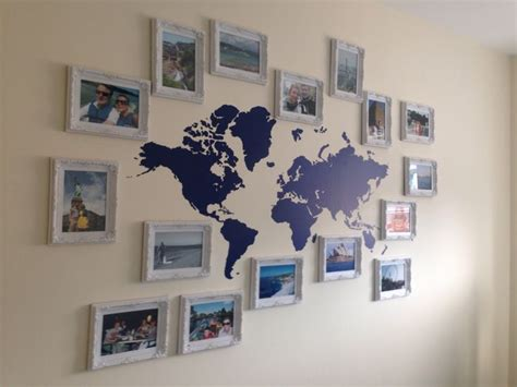 Travel Wall Ideas | our travel wall for the dream home pinterest