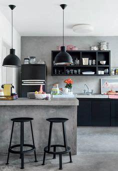 pink kitchen black
