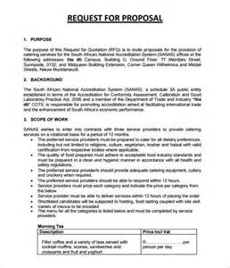 catering rfp template sle catering 6 documemts in pdf word