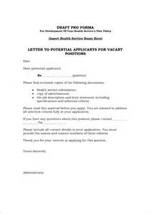 Basic Cover Letter For Any by Application Letter Any Vacant Position