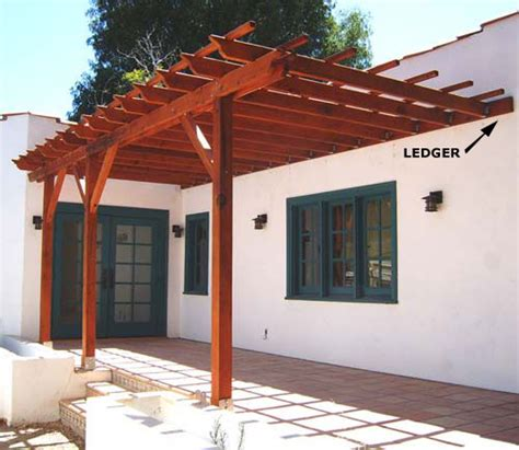 Nice Big Angled Supports Good Style Custom 22 L X 10 W Plans For A Pergola Attached To House
