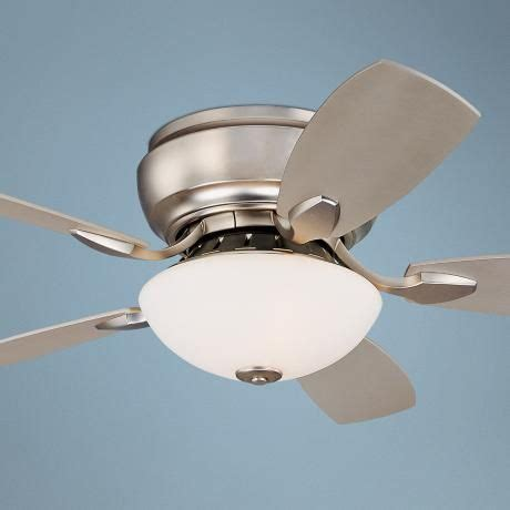 hugger ceiling fans for small rooms 44 quot casa habitat brushed steel hugger ceiling fan