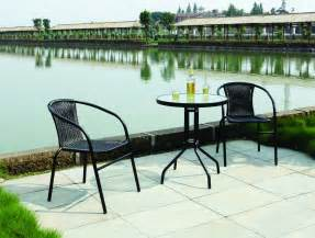 bistro patio furniture garden patio all weather black wicker 3 bistro set