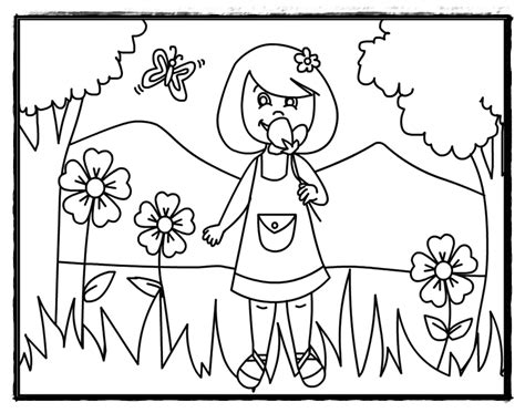 free coloring pages of kindergarten summer