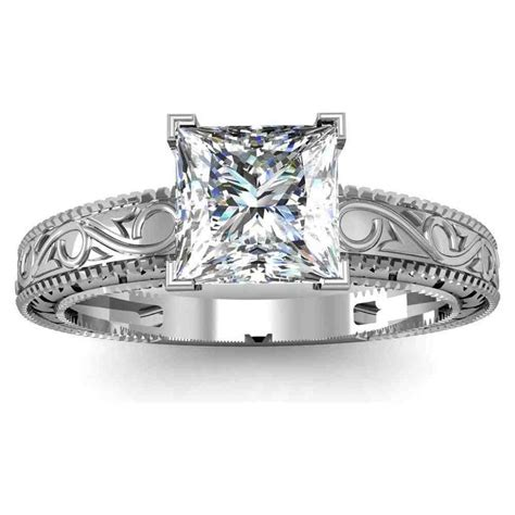 vintage princess cut engagement rings wedding