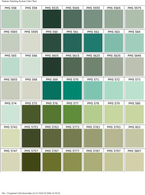 pantone color chart blue green c o l o r p a l e t t e pantone color colors