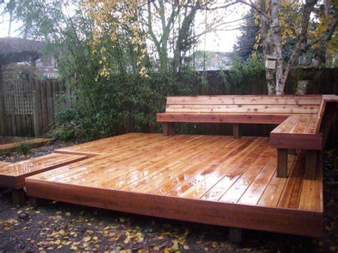 cedar deck bench japanese style cedar deck deck masters llc portland or